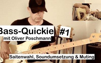 Bass-Quickie #1: Oliver Poschmann